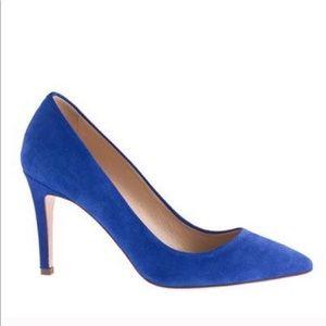 Jcrew Pumps Heels Electric Blue Bluebird 6.5